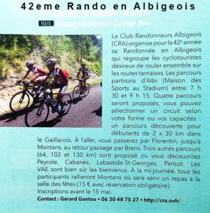 Revue CycloTourisme – Rando en Albigeois